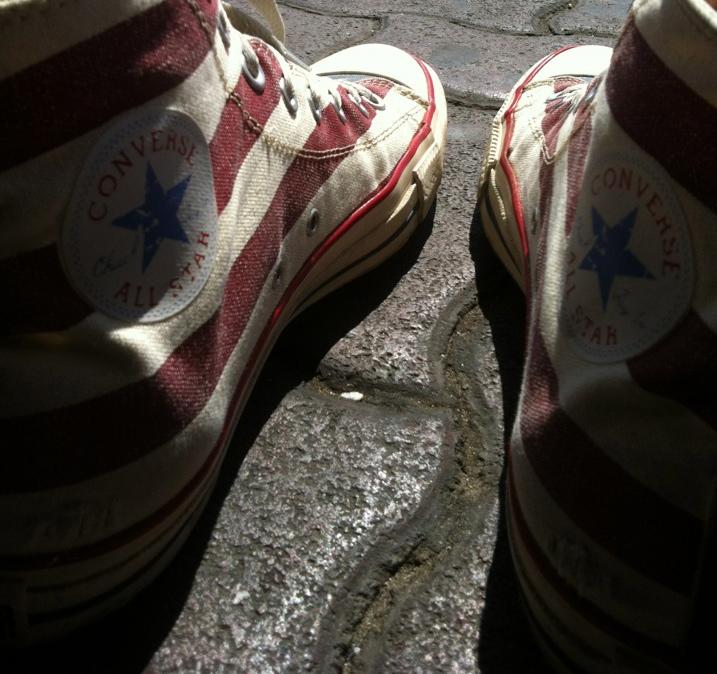 shoes on docks