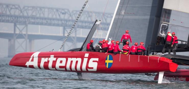 Artemis Racing, Day two sailing the AC72, 15 November 2012, Alameda, USA