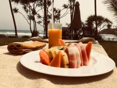 Papaya, mango, pineapple and watermelon